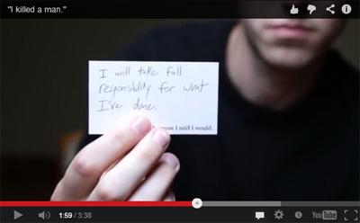 Vidéo-confession d'un chauffard de 22 ans qui reconnaît sa culpabilité