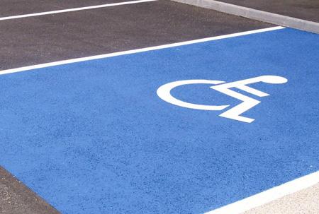 Place réservée aux personnes handicapées