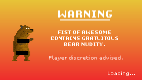 Fist of Awesome Warning
