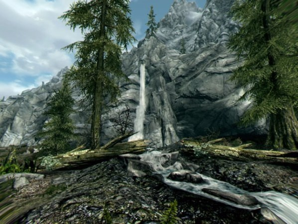 Skyrim VR Waterfall