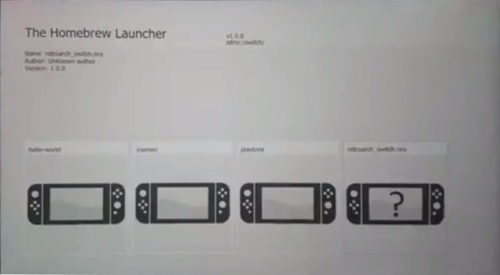 Nintendo switch homebrew launcher tutorial