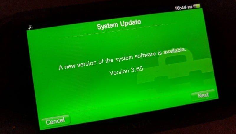 update your ps vita 3.65