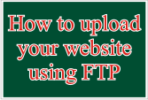 How to upload your website using FTP