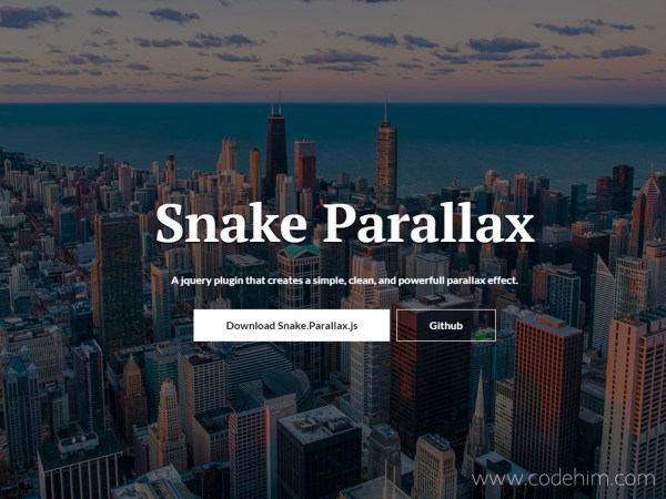 jQuery Parallax Scrolling Background Image — CodeHim