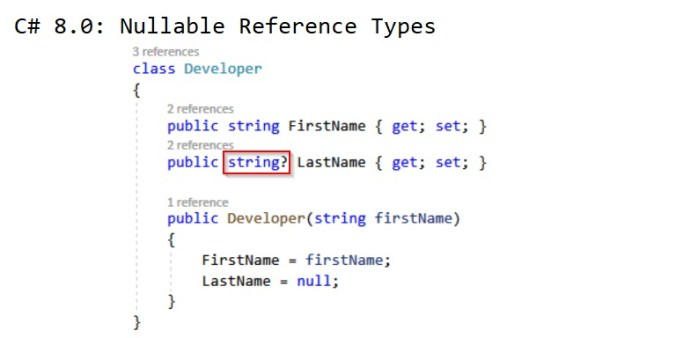 C# 8: Nullable Reference Types - CodeJourney net