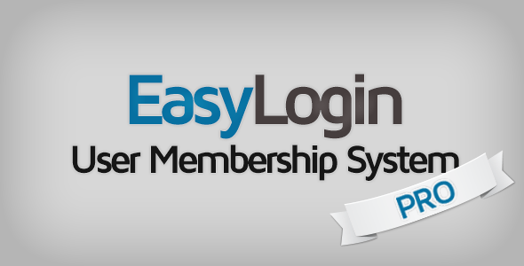 EasyLogin Pro v1.3.3 - User Membership System