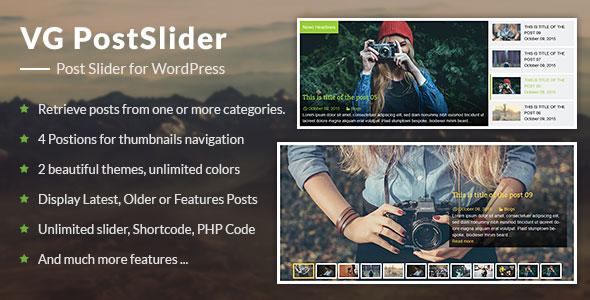 VG PostSlider v1.1 - Post Slider for WordPress