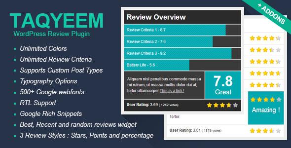 Taqyeem - WordPress Review Plugin v2.2.3