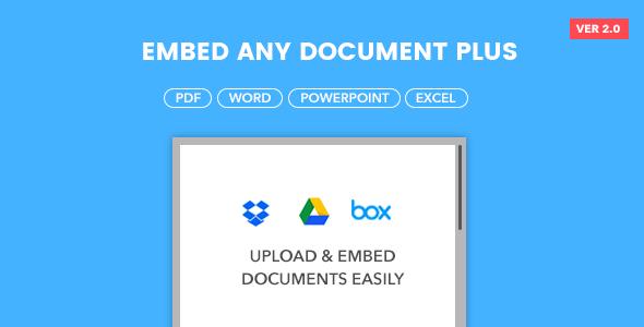Embed Any Document Plus v2.6.0 - WordPress Plugin