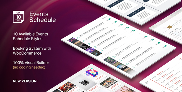 Events Schedule v2.5.5 - WordPress Plugin