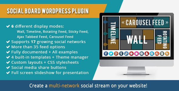 WordPress Social Board v3.7.3
