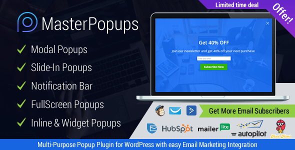 Master Popups v2.0.1 - Popup Plugin for Lead Generation