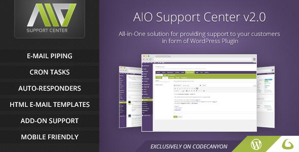 AIO Support Center v2.2 - WordPress Ticketing System