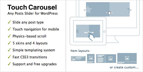 TouchCarousel v1.3 - Posts Content Slider for WordPress