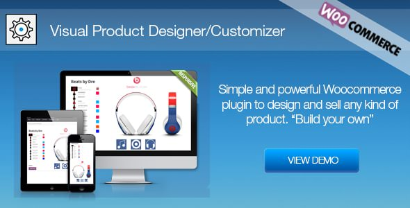 Visual Product Designer/Customizer for Woocommerce v2.0.5