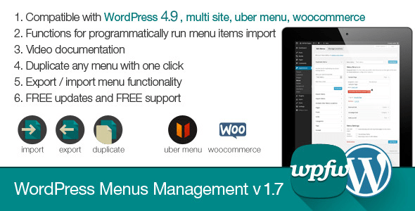 WordPress Menus Management v1.7