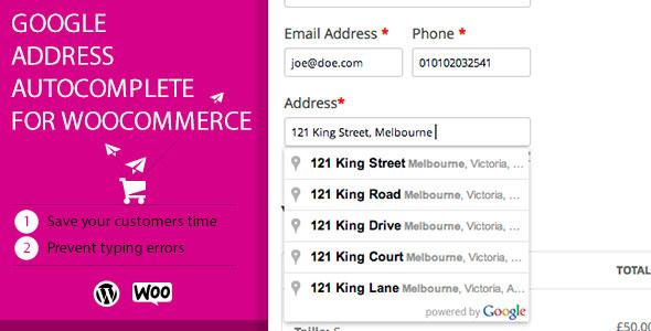Google Address Autocomplete for WooCommerce v2.3.4