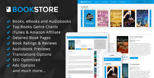 BookStore v1.3 - Books, eBooks and Audiobooks Affiliate Script