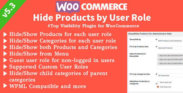 WooCommerce Hide Products v6.0