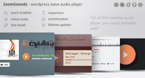 ZoomSounds v5.70 – WordPress Audio Player