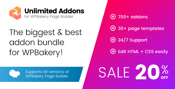 Unlimited Addons for WPBakery Page Builder v1.0.26