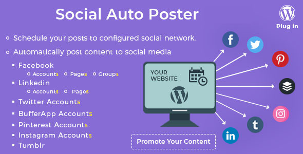 Social Auto Poster v2.9.10 – WordPress Plugin