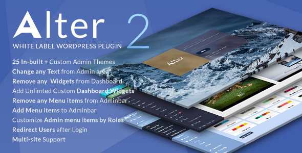 WpAlter v2.3.5 - White Label WordPress Plugin