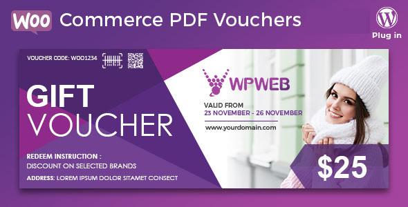 WooCommerce PDF Vouchers v3.6.0 - WordPress Plugin