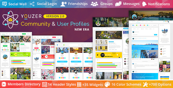 Youzer v2.3.1 - Buddypress Community & User Profiles