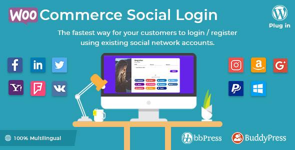 WooCommerce Social Login v1.8.1 – WordPress plugin