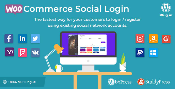 WooCommerce Social Login v1.8.1 - WordPress plugin