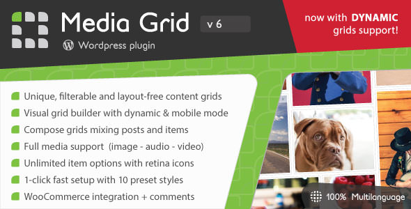 Media Grid v6.3 - WordPress Responsive Portfolio