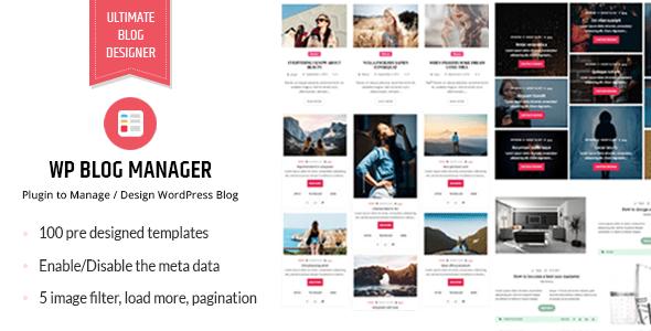 WP Blog Manager v1.1.3 - Plugin to Manage Design Blog