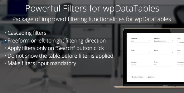 Powerful Filters for wpDataTables v1.0.3 – Cascade Filter for WordPress Tables