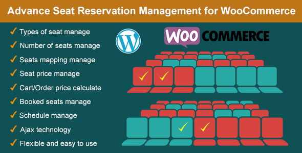 Advance Seat Reservation Management for WooCommerce v2.8