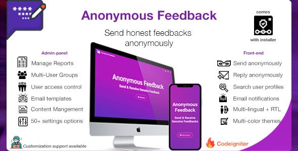 Anonymous Feedback v2.5 - Send Honest Feedbacks