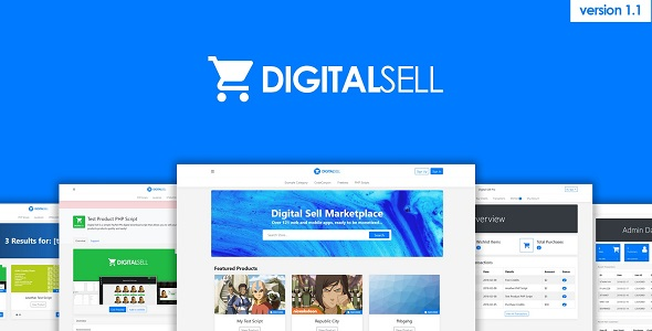 Digital Sell Marketplace PHP Script v1.2b