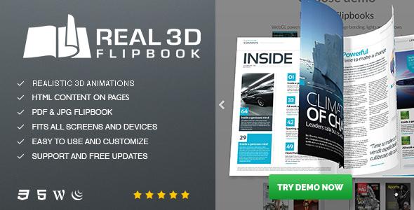 Real3D FlipBook v3.5.4 – WordPress Plugin