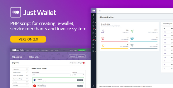 Just Wallet v2.0.4 - Online Payment Gateway