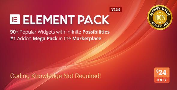 Element Pack v2.3.0 - Addon for Elementor Page Builder