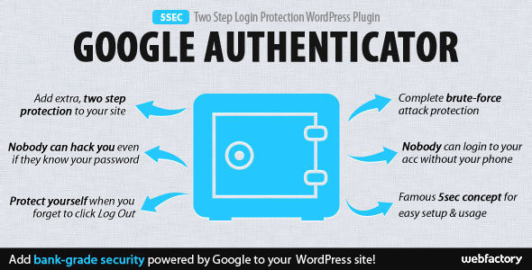 5sec Google Authenticator 2-Step Login Protection v1.2.0