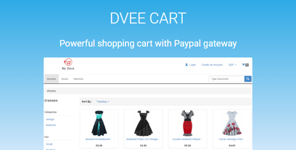 Dvee Cart - E-commerce with Paypal