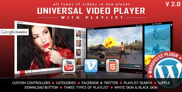 Universal Video Player v3.2 - WordPress Plugin