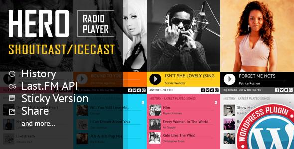 Hero v1.6.5 - Shoutcast and Icecast Radio Player