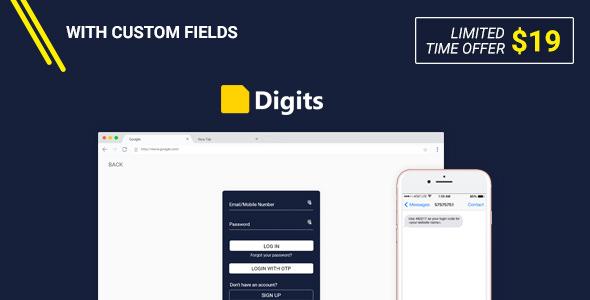 Digits v5.3 - WordPress Mobile Number Signup and Login