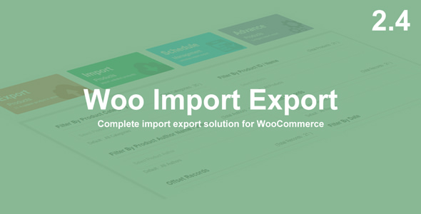 Woo Import Export v2.4.8