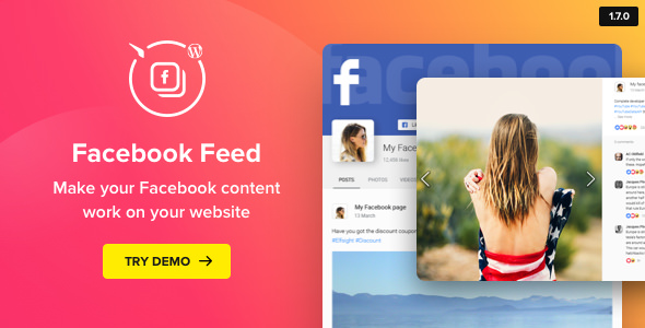 WordPress Facebook Plugin v1.7.0 - Facebook Feed Widget