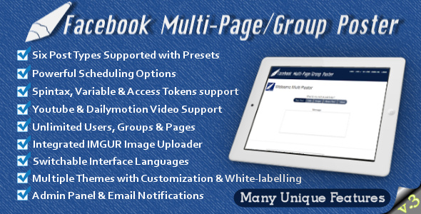 Facebook Multi-Page/Group Poster v3.83
