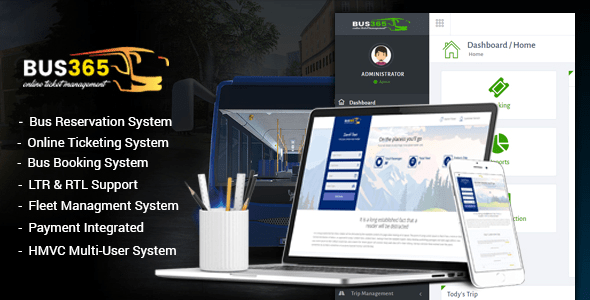 Bus365 v5.2 - Bus Reservation System with Website