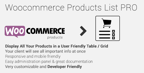 Woocommerce Products List Pro v1.1.16